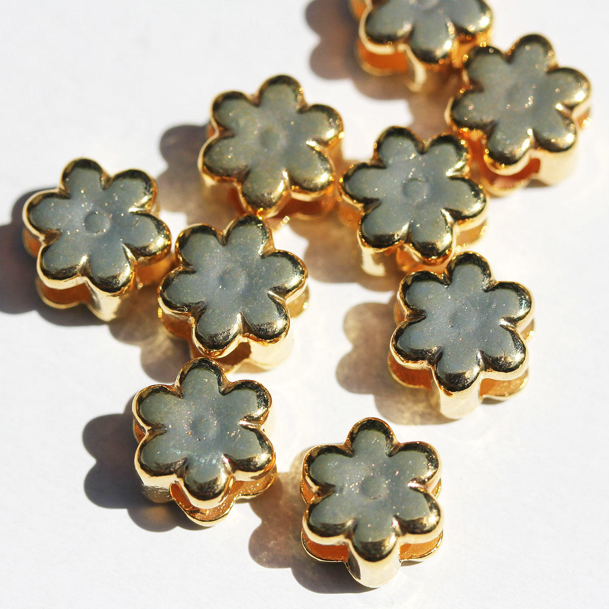 Gold Small Daisy Slider
