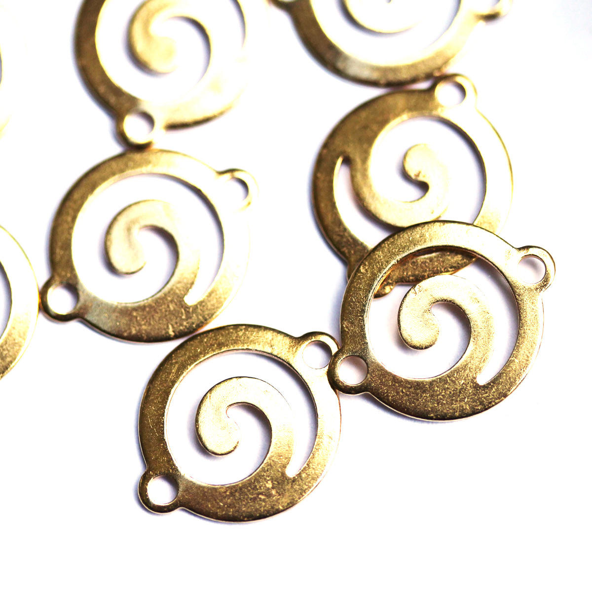 Gold Tribal Swirl 14mm Connector Charm