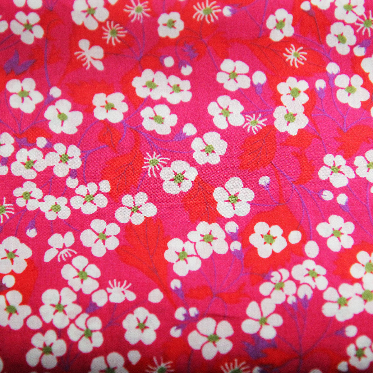 Liberty Fabric Mitsi Red Tana Lawn