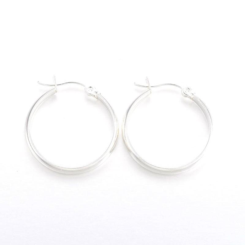 Silver Stainless Steel Earring Hoops