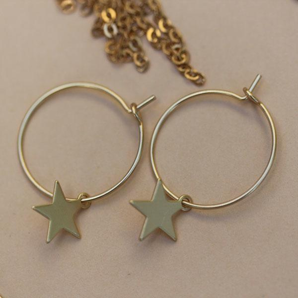 Simple Gold Star Earrings