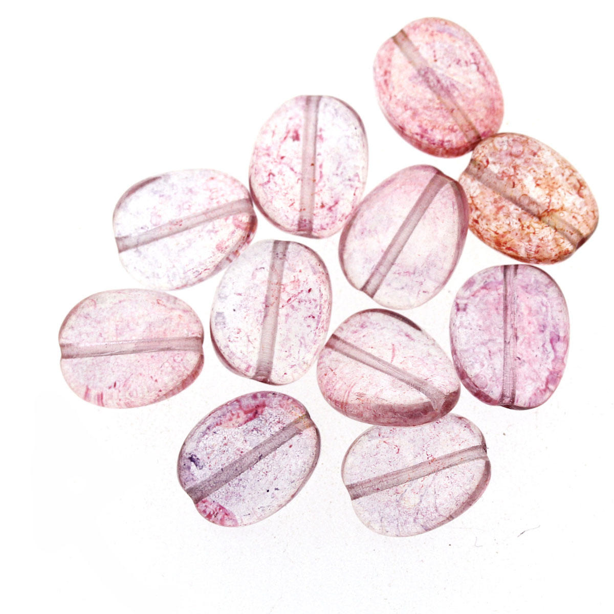 Rusty Pink Twist Glass Bead - Code 01/06