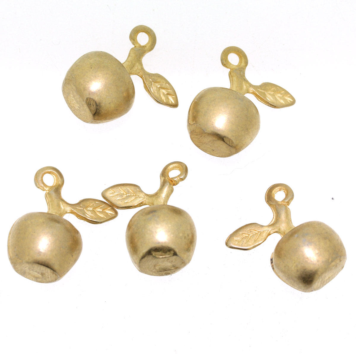 Gold Apple Charm 2