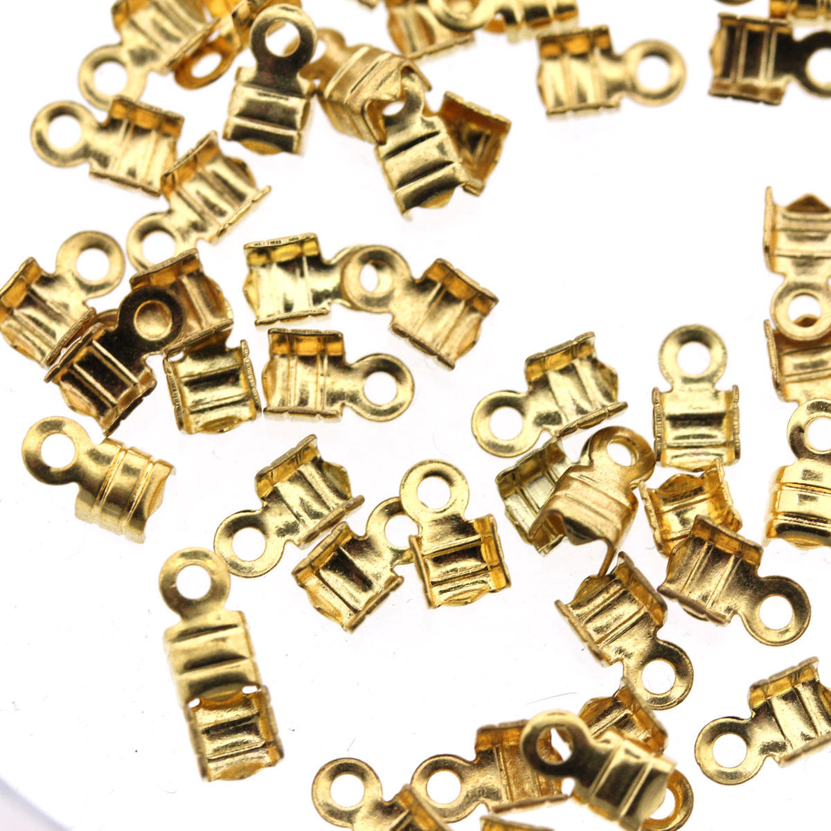 Gold Small Folding Crimp Finding