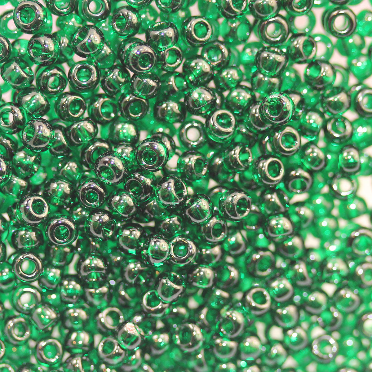 Emerald Transparent Green Seed Bead