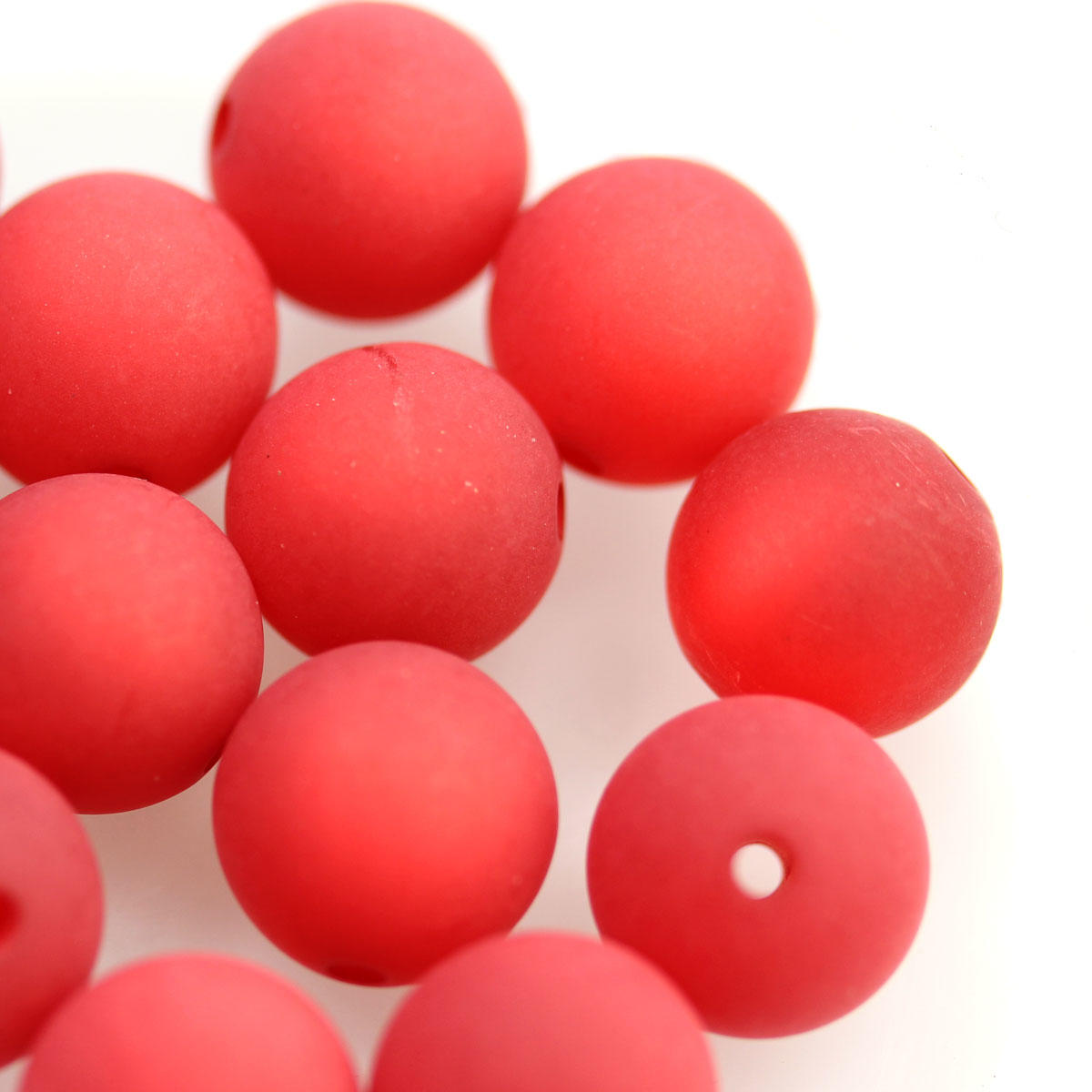 Regal Red Round 12mm Polaris Bead