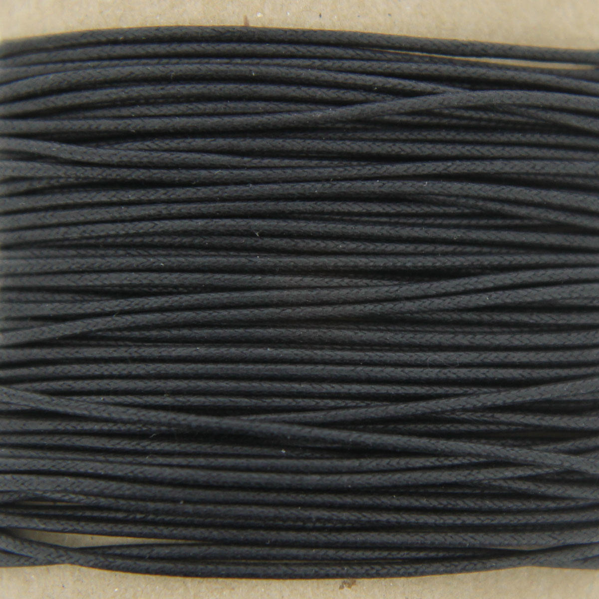 Black Thick Cotton Bead Cord 1.3mm