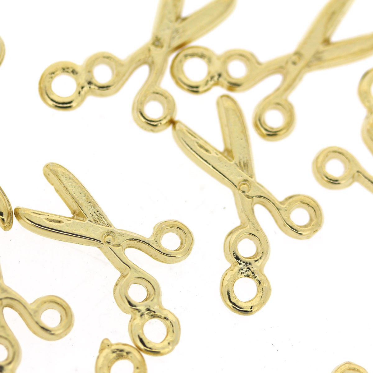 Gold Scissor Charms