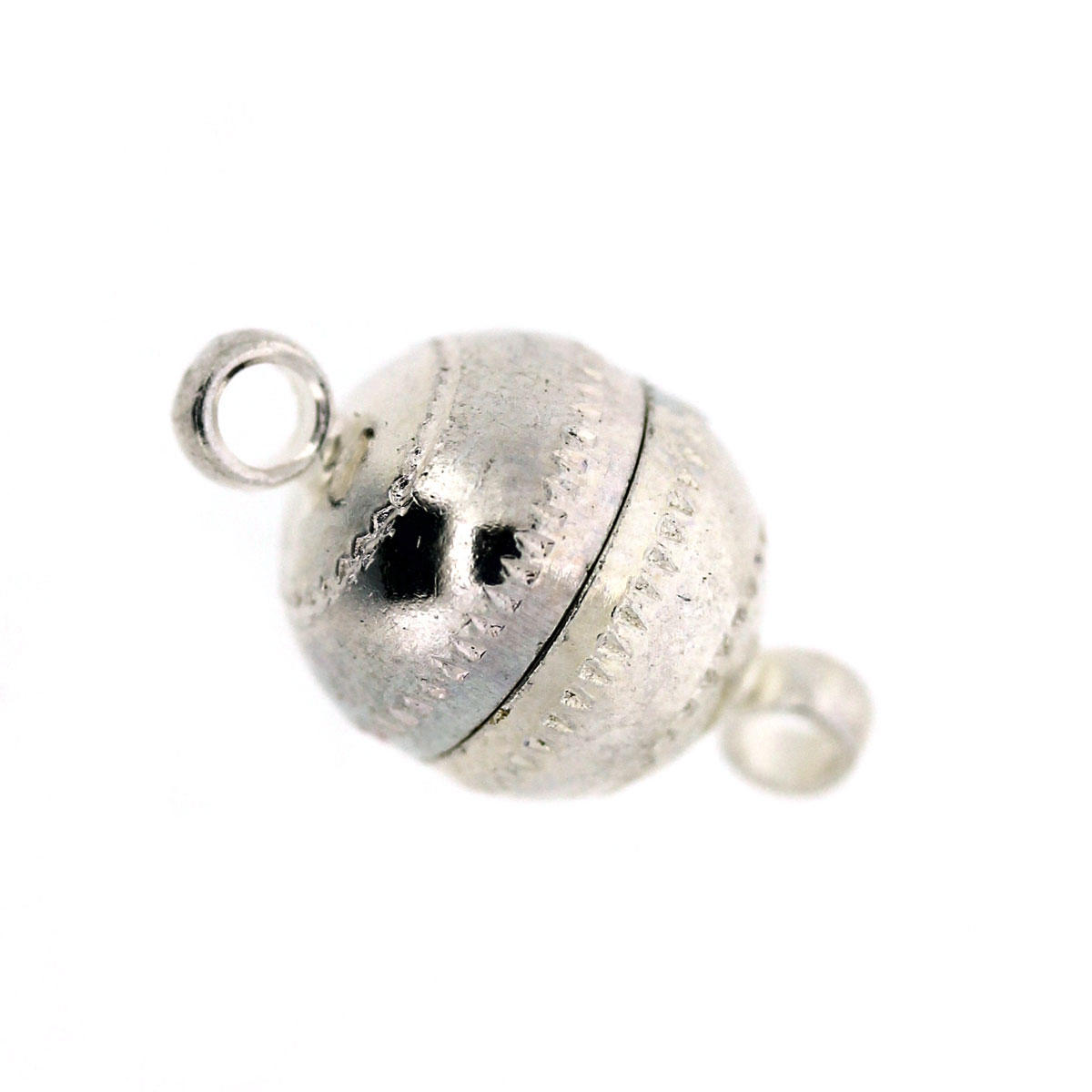 Magnetic Round Clasp Silver