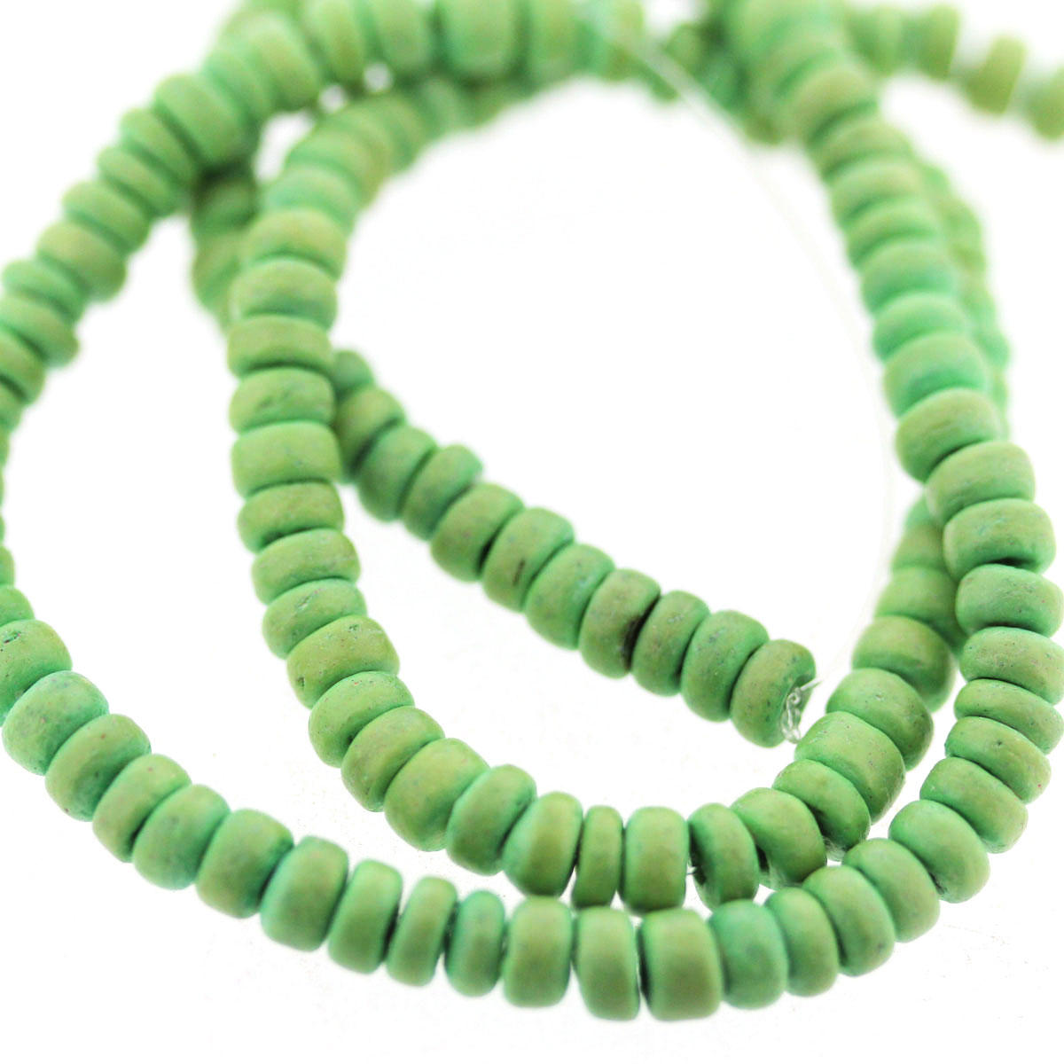 Green Coco Wood Bead String