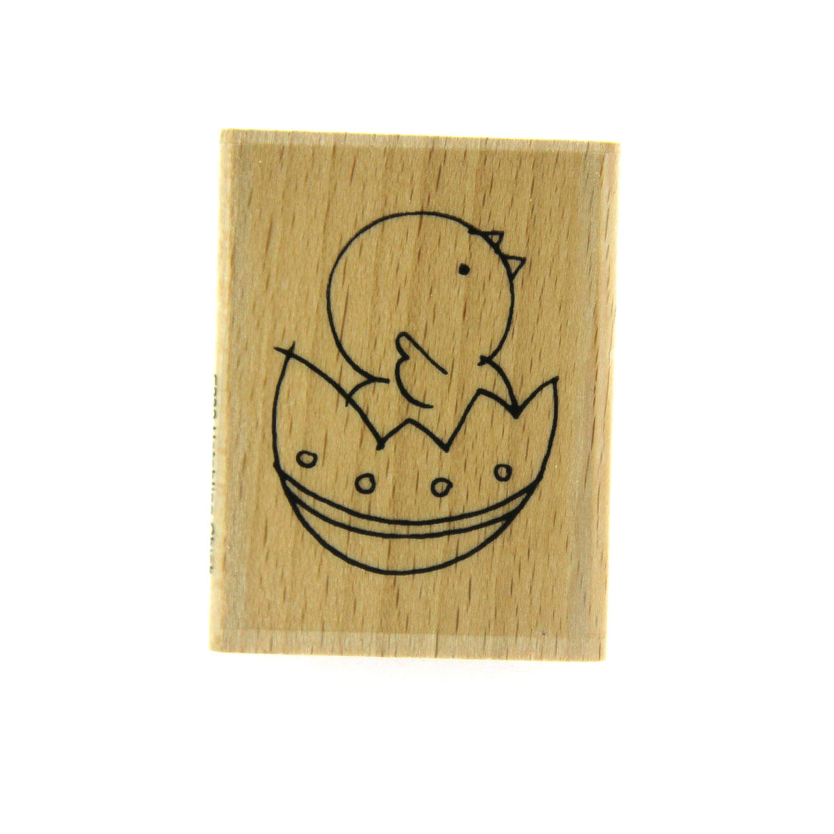 Hatching Chick Rubber Stamp