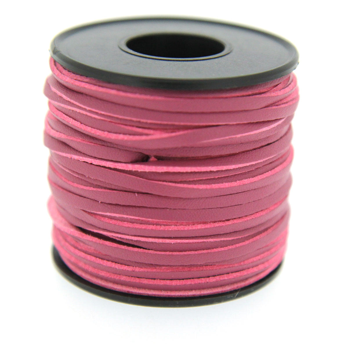 Plum/pink two tone leather faux cord 3mm