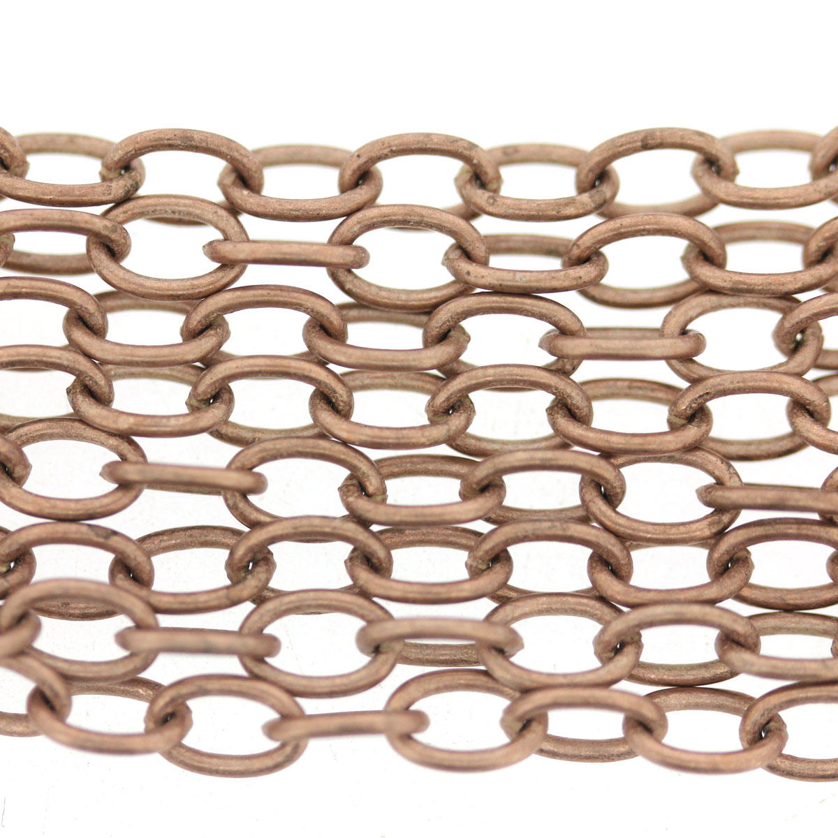 Silvered Copper Plain Italian Chain