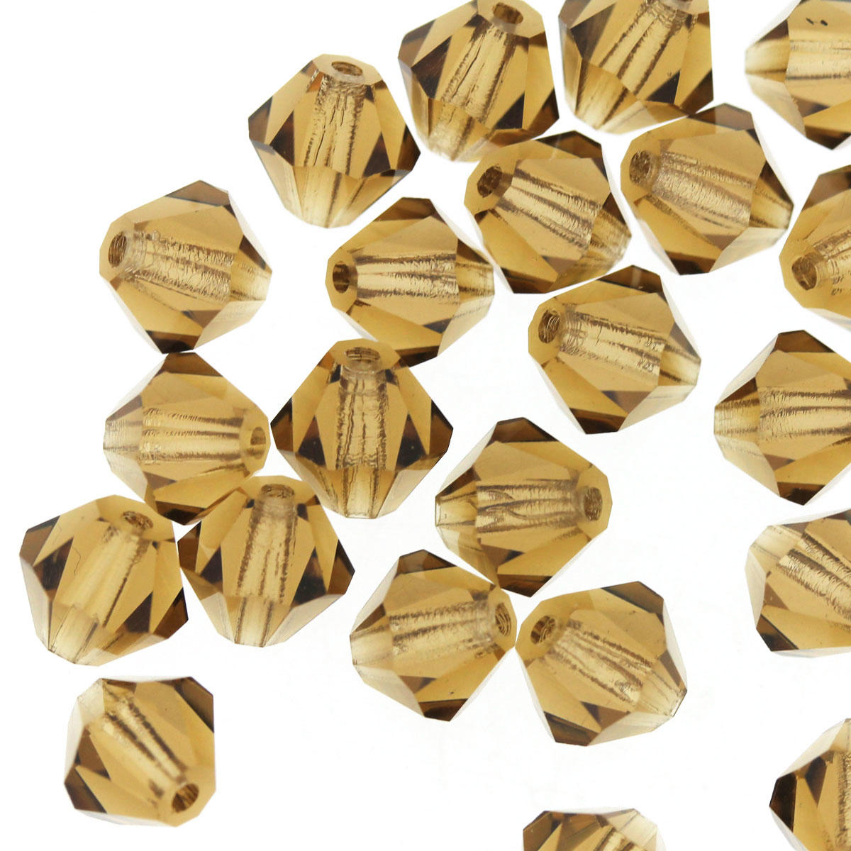 Smokey Topaz 6mm Crystal Bicone Bead