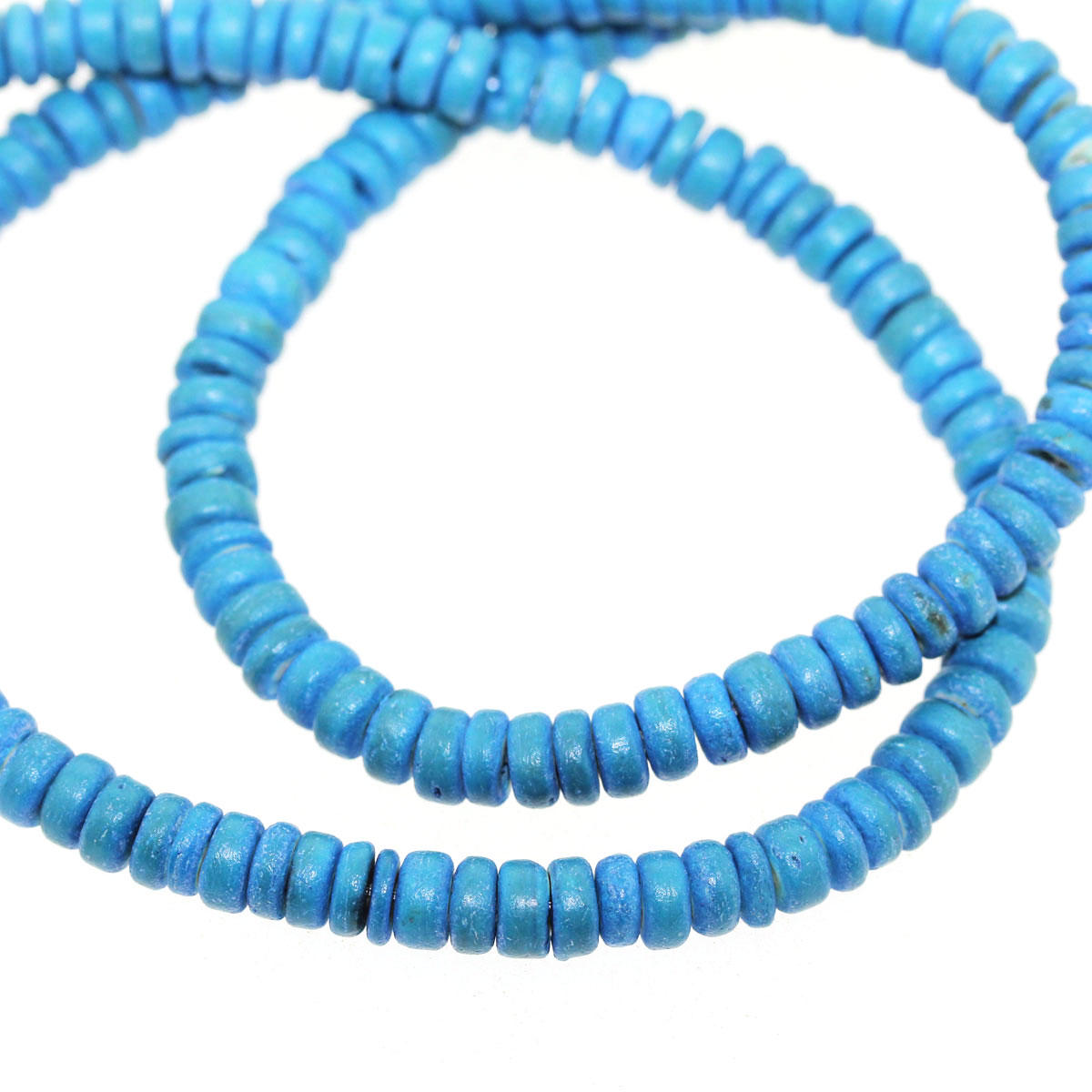 Turquoise Coco 4/5mm Bead String
