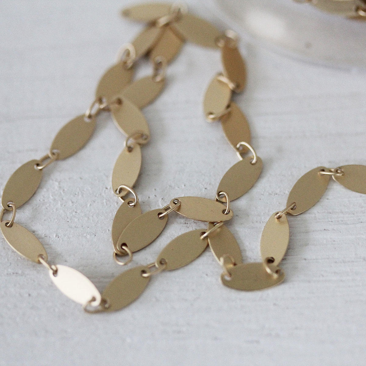 Soft Gold Chain of Oval Discs