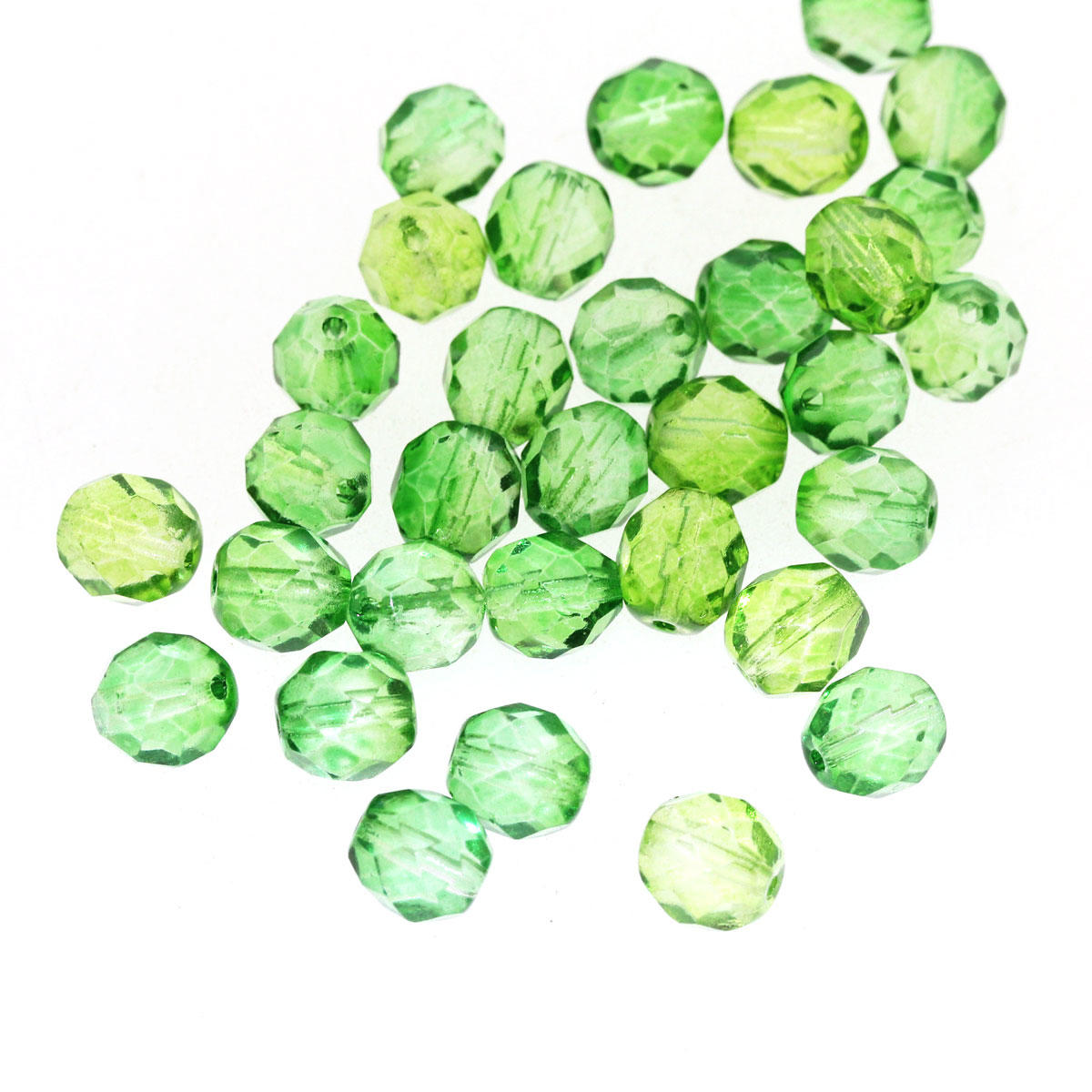 Peridot Green 8mm Fire Polished Glass Bead - Code 68/08