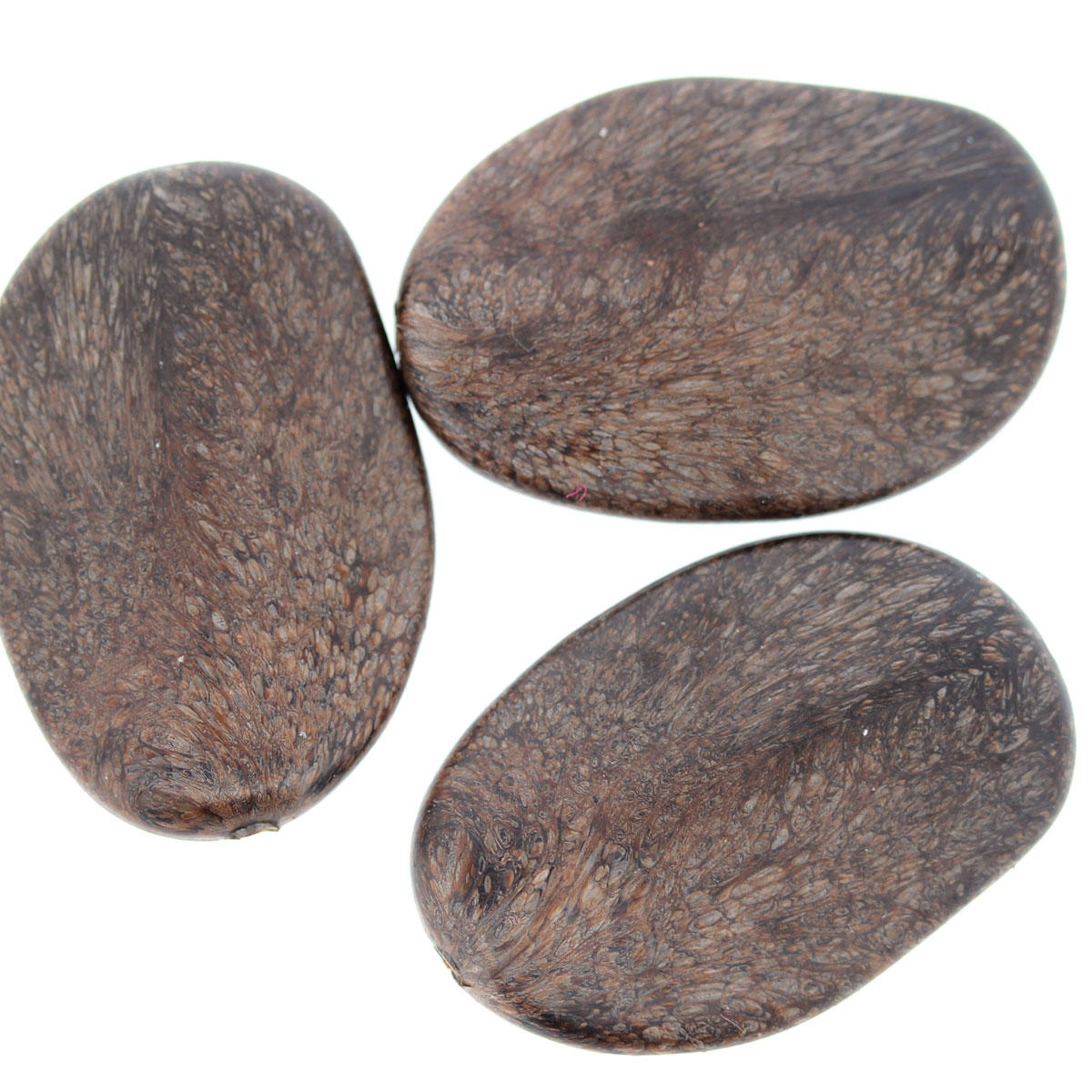 Wood Acrylic Irregular Plane Bead