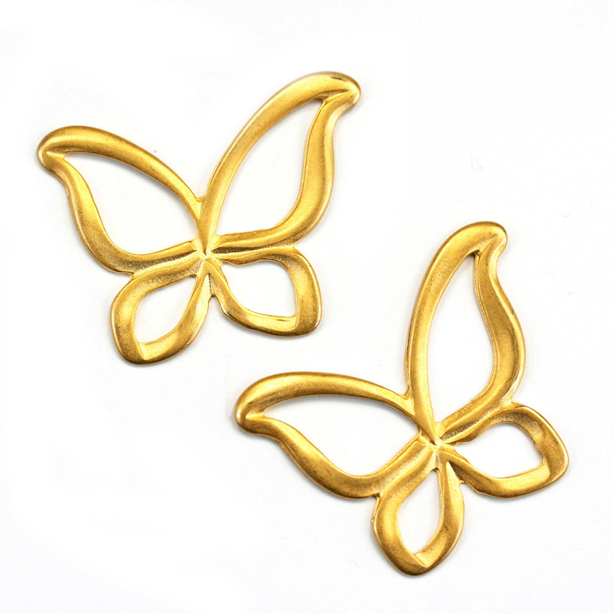 Gold Fluttering Butterfly Connector