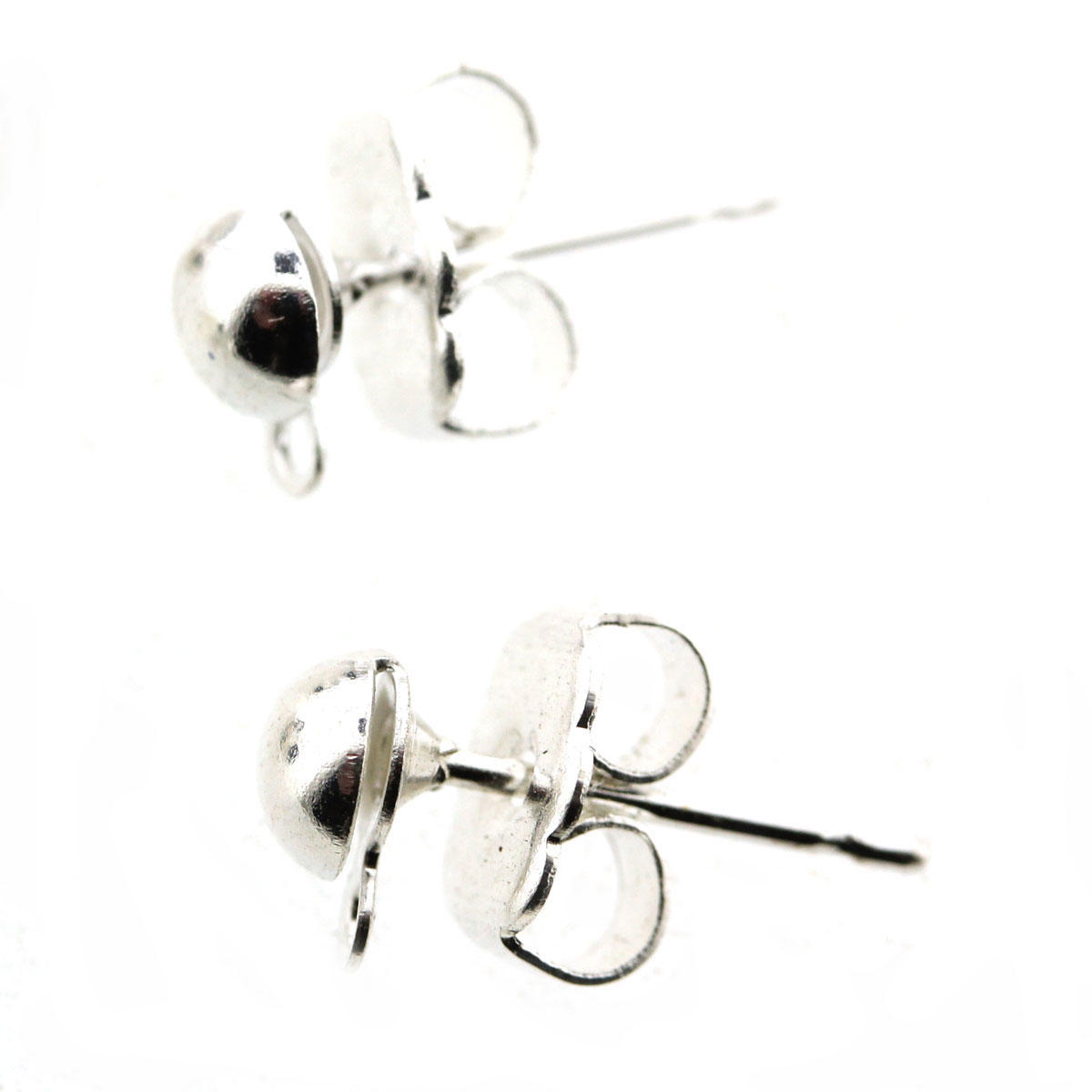 Silver French Earring and Butterfly (pair)