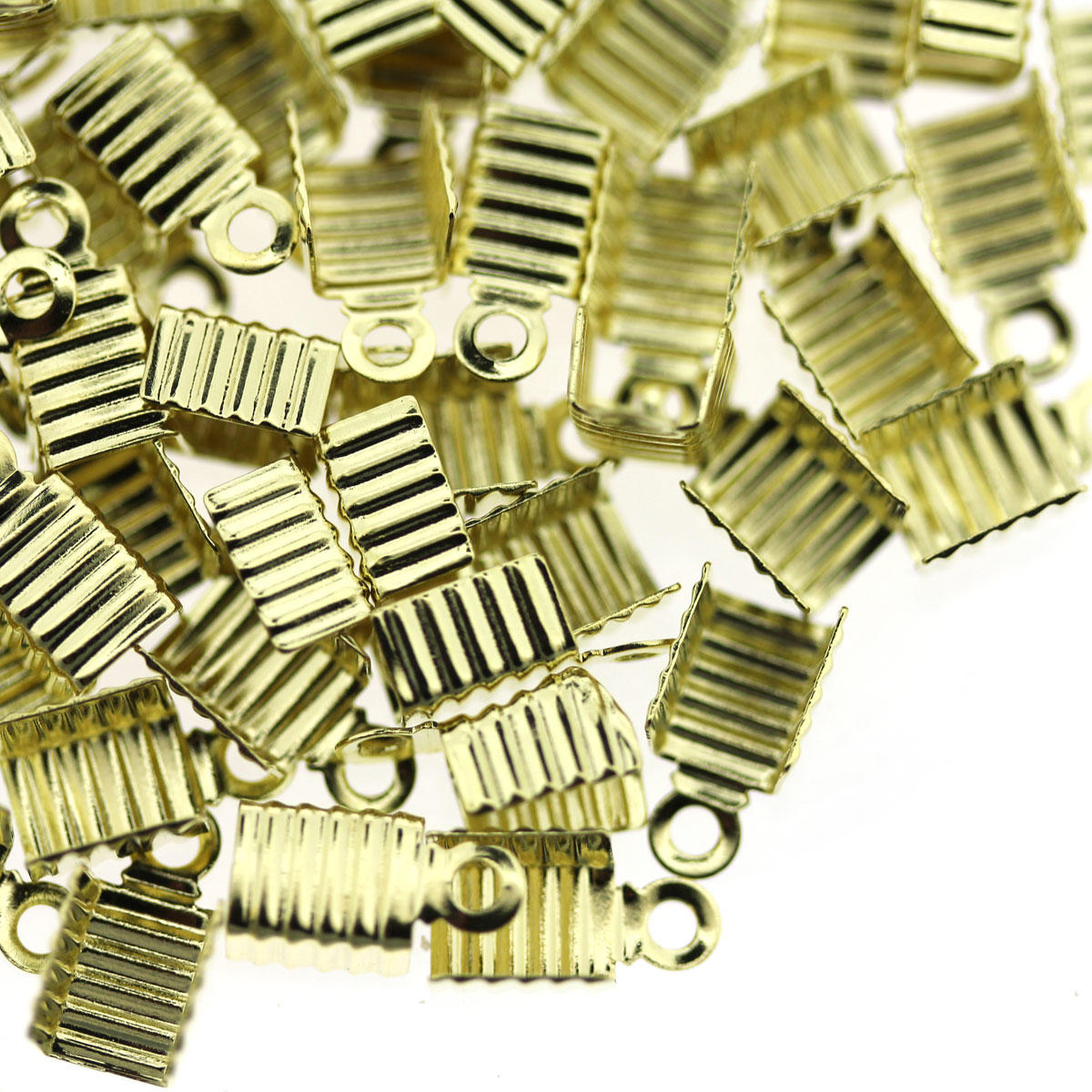 Light Gold Large Folding Crimp Finding