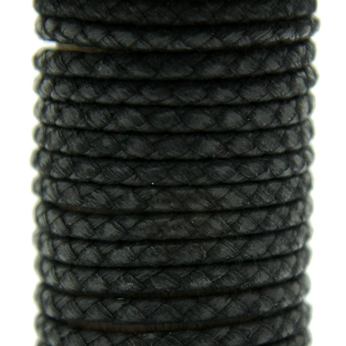 Black Waxed Cotton Braid Jewellery Cord