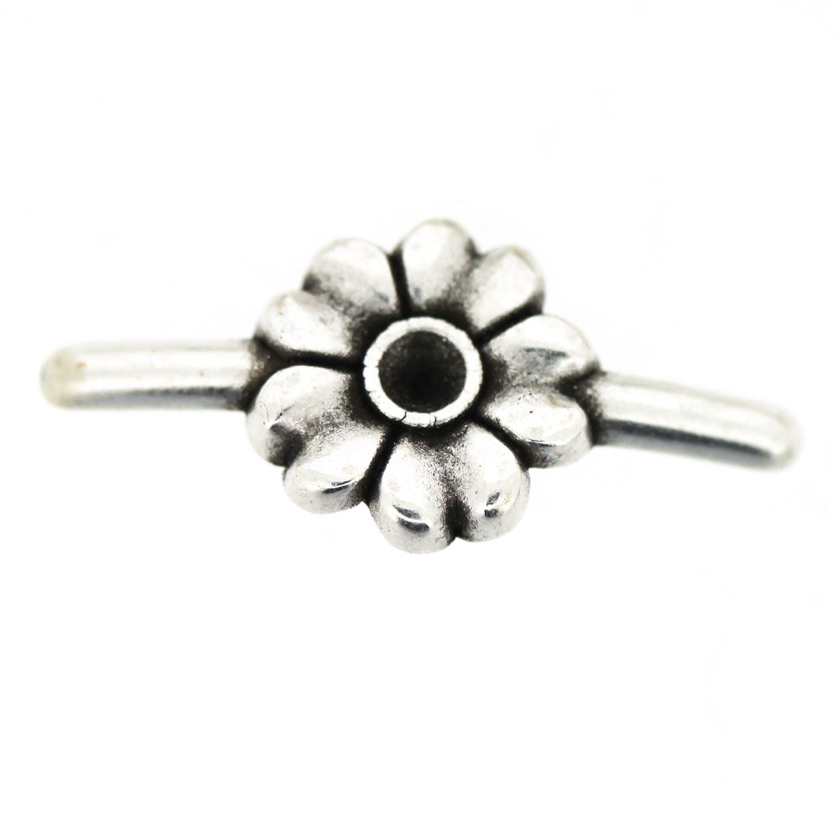 Daisy Flower PVC Connector Charm - 3mm