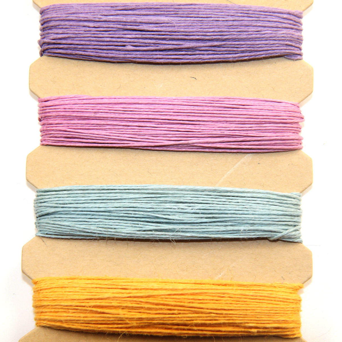 Hemp Cord Bobbin Pastel Colours