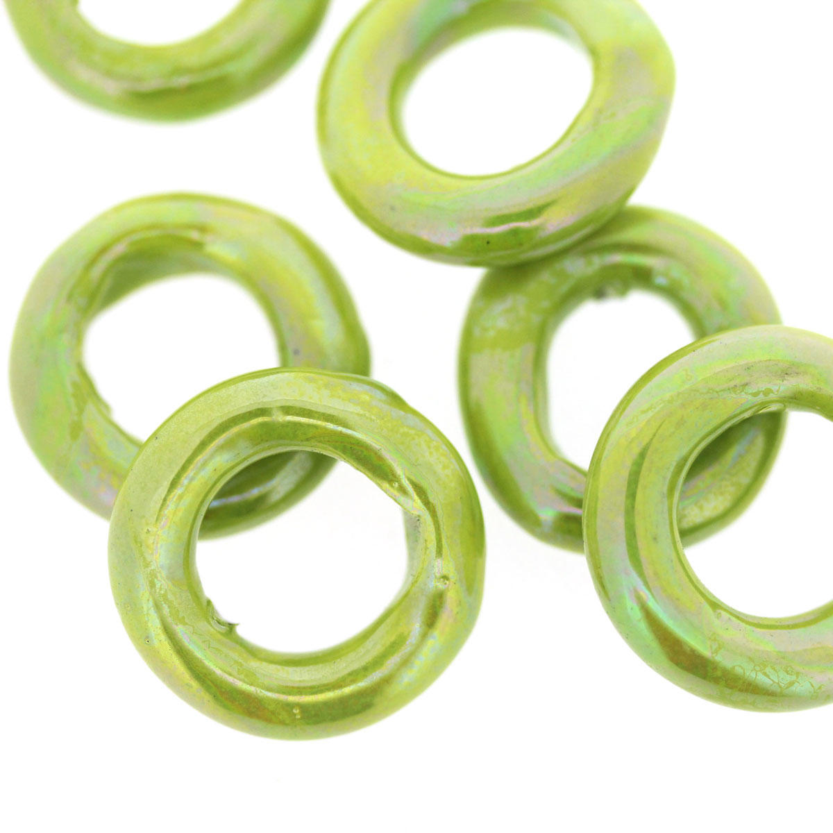 Lime Ceramic Ring Bead