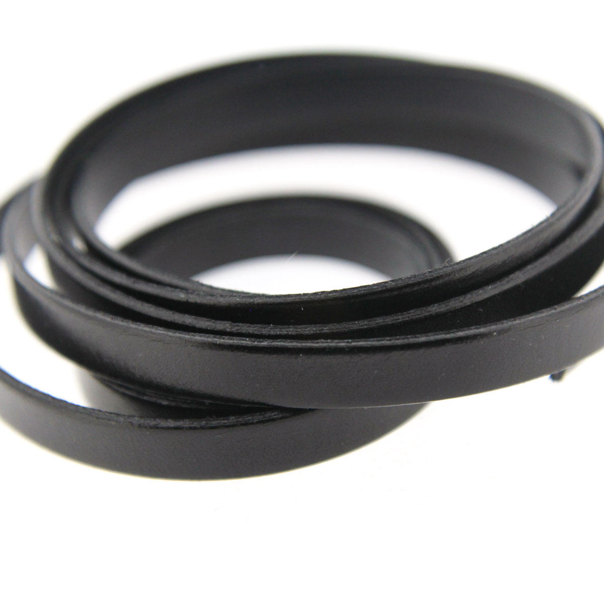 Black 10mm Flat Leather