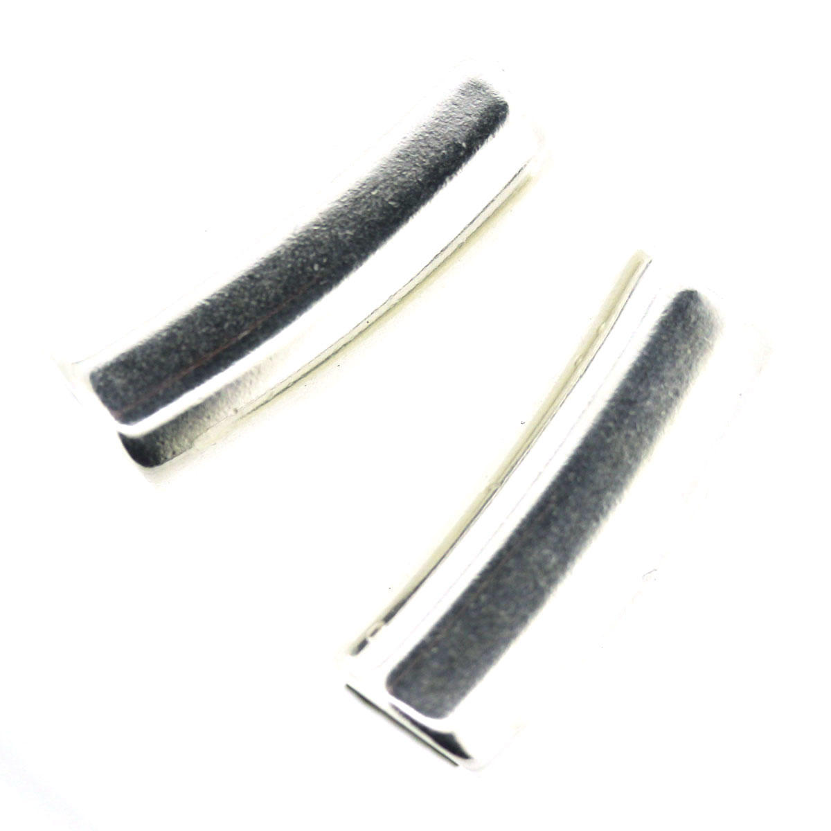Silver Tube to fit Square/oval Leather Bracelets