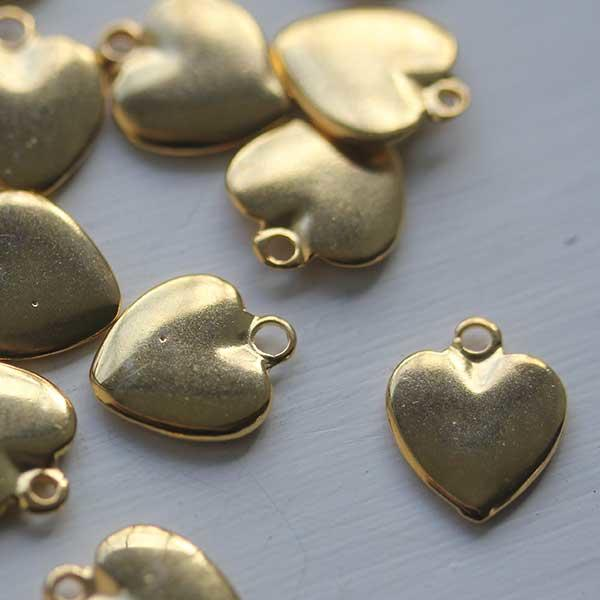Soft Gold Heart Charm