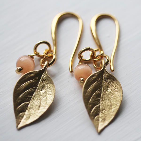 New Gold Leaves and Earring Fitting