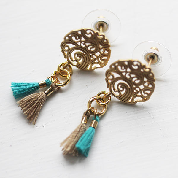 Earrings with Tiny Tassels