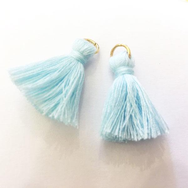 Light Blue Cotton Tassels