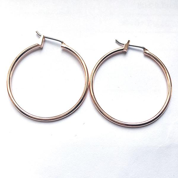 Rose Gold New Earring Hoops