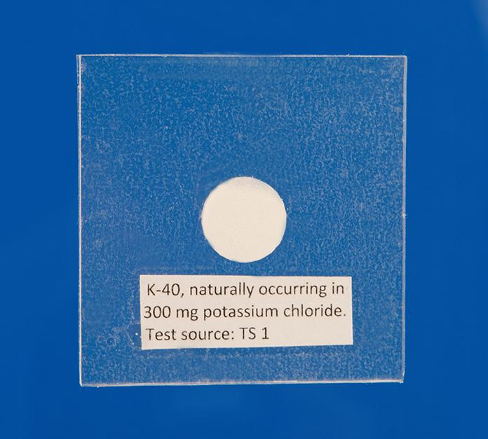 Standard Radiation Test Source (K40)