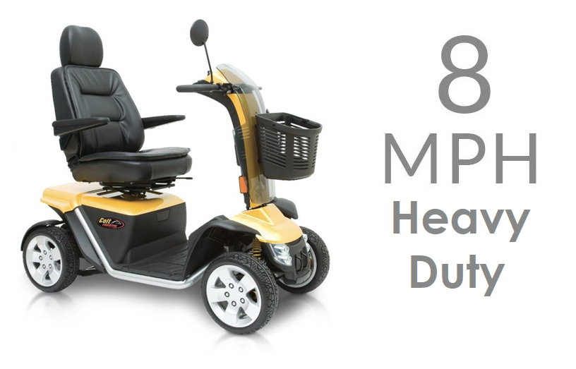 Mobility Scooters - 8mph Heavy Duty