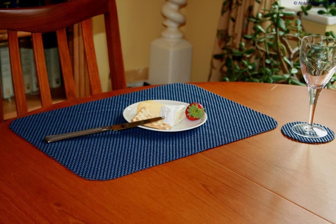 Stayput Non Slip Fabric Tablemat And Coaster Set