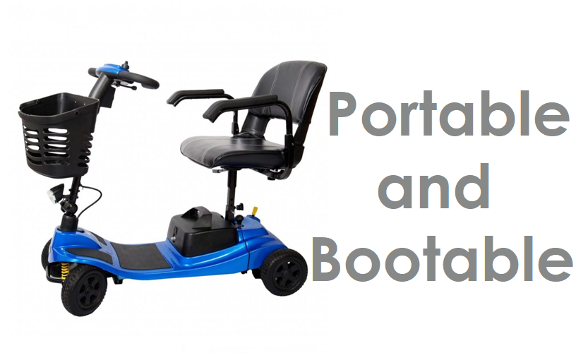 Mobility Scooters - Portable & Bootable