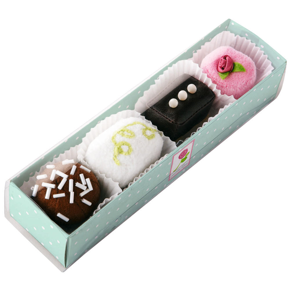 Fabric petit fours play food cakes by Haba