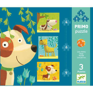 Dogs primo puzzle by Djeco