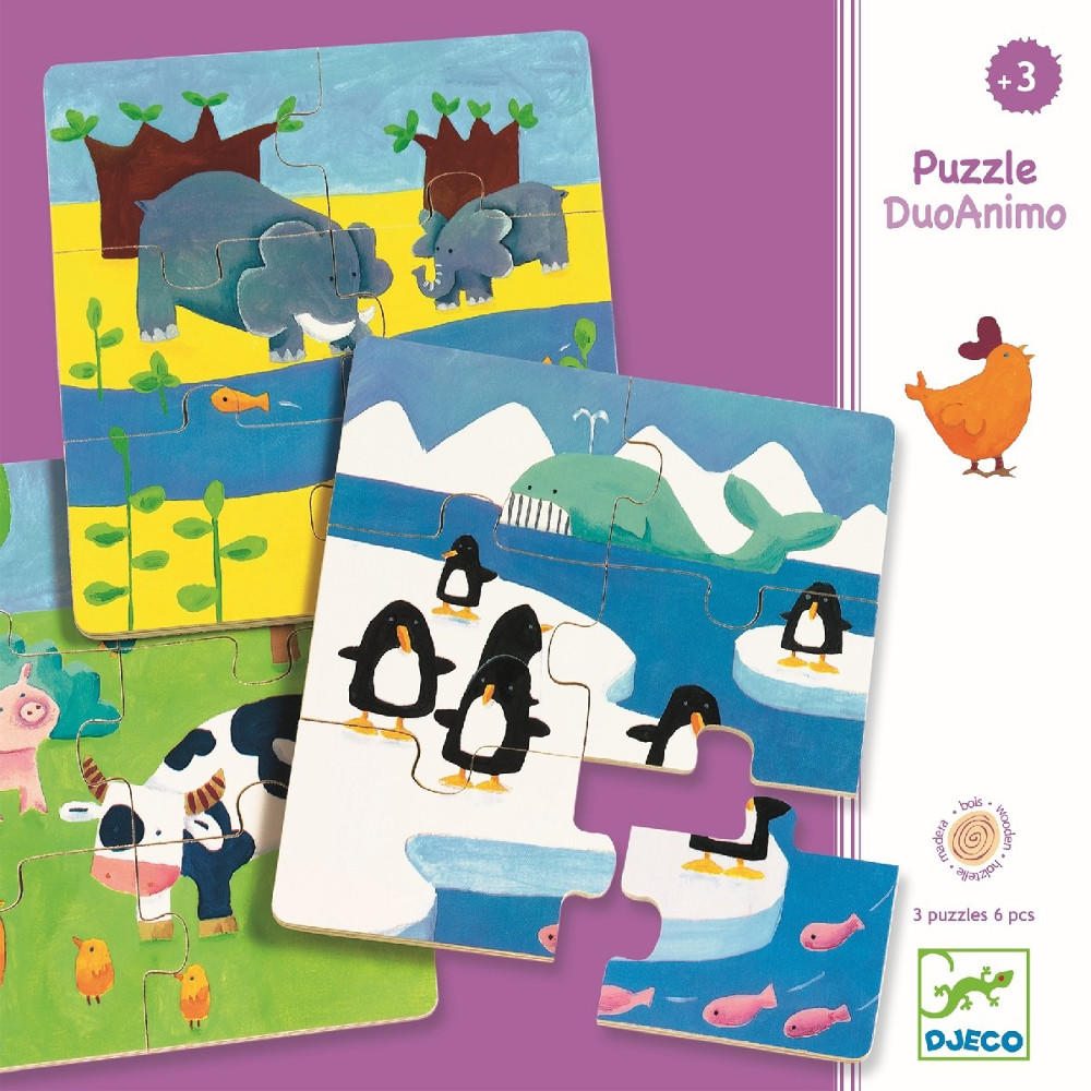 Duo animo puzzles by Djeco