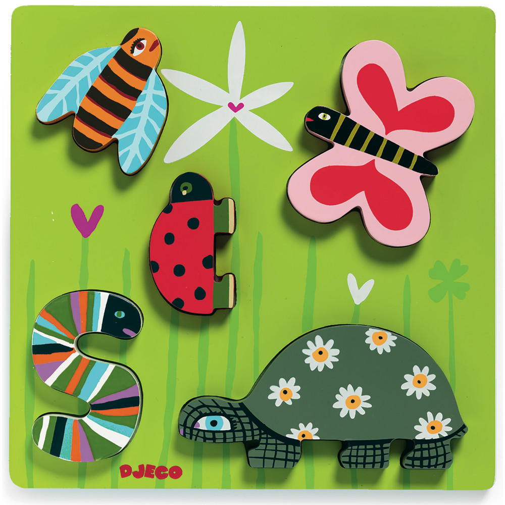 Little beasts relief puzzle by Djeco