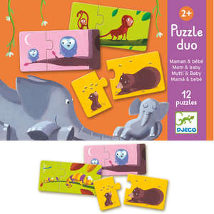 Mum and baby puzzle duo by Djeco