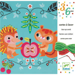 Djeco lace up cards friends
