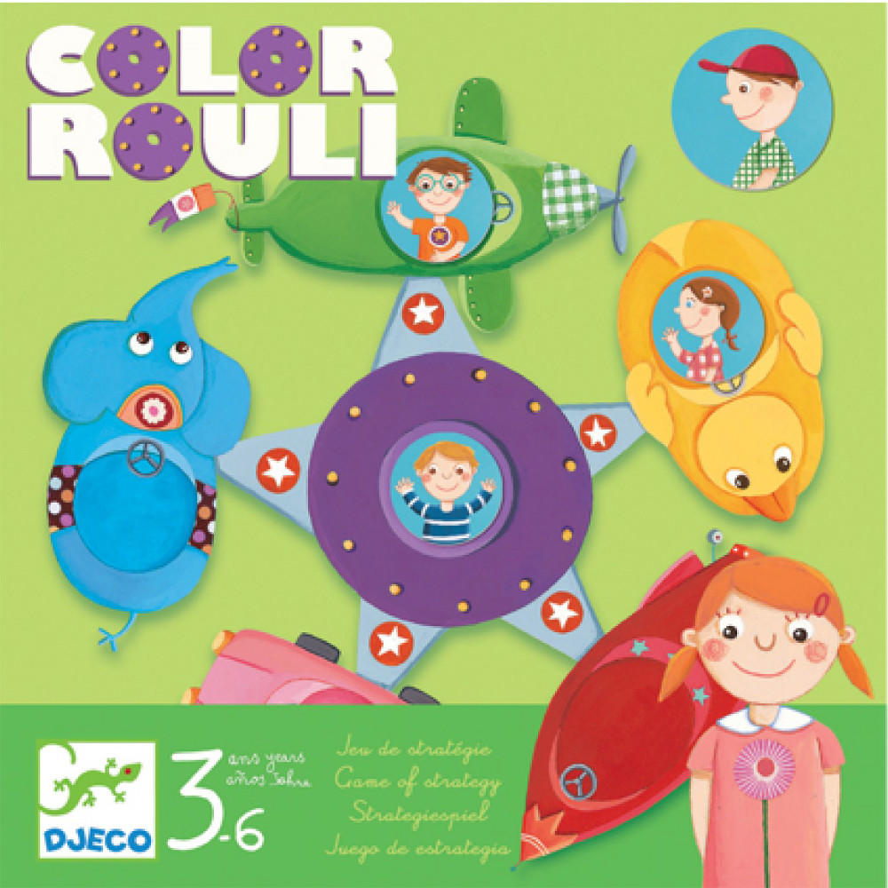 Djeco color rouli game