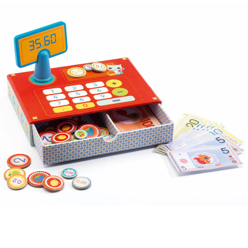 Cash cat play shop till by Djeco