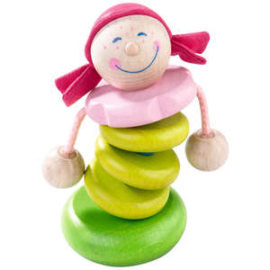 Rosella wooden baby rattle by Haba
