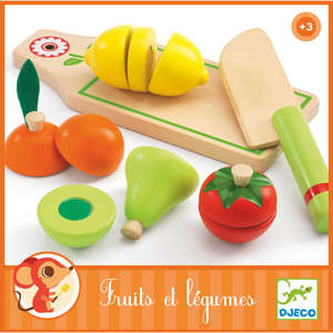 Fruit and vegetables to cut by Djeco